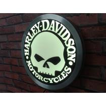 Luminoso Harley Davidson Bar Neon Caveira