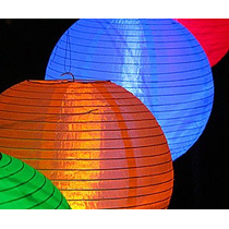 Luminária Nylon Japonesa Chinesa Oriental Lanterna Hachi8