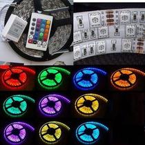 Kit 10 Pçs Fita De Led 5050 Rgb Ip65 Imp.300 Leds C/controle