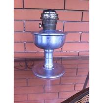 Lampião Lamparina Aladim De Alumínio Antigo A Querosene