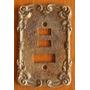 Antigo Espelho Placa Colonial Tomada Em Bronze/metal