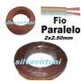 Fio Paralelo 2x2.5mm Marrom Rolo C/ 20mts Extençao Eletrica