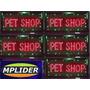 Letreiro Luminoso Em Led Pisca, Muda Cores Escrito Pet Shop