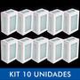 Kit Com 10 Arandelas Retangular Area Externa - Kit10htar20x1