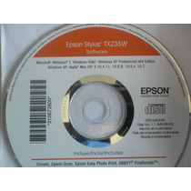 Cd De Instalação Para Impressora Epson Stylus Tx 235w.