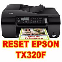 Reset Epson Tx320f ( Contador- Almofada)
