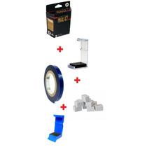 Caixa P/cartucho+clips+fita Bluetape+esponja+snap Fill