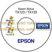 Cd De Instalação Impressora Epson Tx123 Tx125 - Frete Grátis