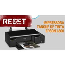 Epson Impressora L800 - Reset Almofada E Tinta - Com Suporte