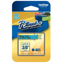 Fita Rotulador Brother 9mm M-521 Preto/azul Pt-80 Pt-70