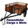Projeto Carretinha Carga, Canoa, Moto, Kart, Frete Grátis.
