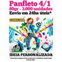 Panfleto 80gr 3.000 Unid. 10x14 - 4/1 Envio Em 24hs Úteis
