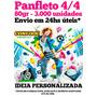 Panfleto 80gr 3.000 Unid. 10x14 - 4/4 Envio Em 24hs Úteis