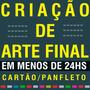 Arte Final Flyer Cartão De Visita Banner Folder Panfleto