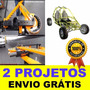 Kit Projeto Curvadora De Tubos + Projeto Kart Cross + Brinde