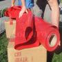 Lona Vermelha Vinil Pvc 30x1,57 Toldo Tenda Impermeável