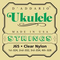Encordoamento Para Ukulele Soprano Daddario J65 Clear Nylon