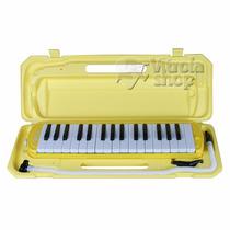 Escaleta Dolphin 32 Teclas Amarela Com Case Garantia E Nota