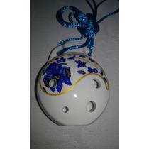 Ocarina Japonesa De Cerâmica - Afinada Em C Alto - 4 Furos