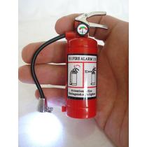 Isqueiro Extintor De Incêncio Com Led Para Coleção