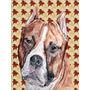 Staffordshire Bull Terrier Staffie Folhas De Outono Flag Can