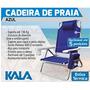 Cadeira De Praia Kala 5 Posições Com Bolsa Térmica