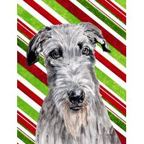 Scottish Deerhound Candy Cane Natal Da Bandeira Jardim Taman