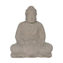 Escultura Buda Meditando Em Pedra Para Jardim 40x32cm