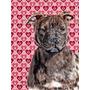 Staffordshire Bull Terrier Staffie Corações E Amor Bandeir