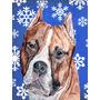 Staffordshire Bull Terrier Staffie Inverno Flocos De Neve Ba