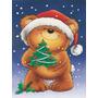 Urso De Peluche E Bandeira Da Árvore De Natal Garden Tamanh