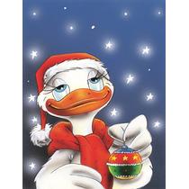 Pato Com A Bandeira Do Ornamento Do Natal Jardim Tamanho Aah