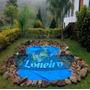 Lona Plástica Azul Redonda 2,5m Lago Tanque Piscina 380micra