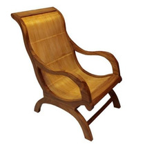 Ca1555 - Cadeira Chaise Long Teca Bambu - Made India.