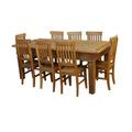 Ca395 - Jogo Mesa Em Madeira De Demolição Com 8 Cadeiras