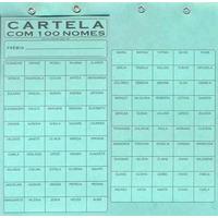 Cartela Rifa 100 Nomes - Pct C/ 05 Unidades! Frete Grátis!