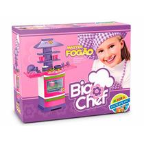 Fogãozinho Panelinha Master Fogao Big Chef Cozinha Infantil