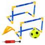 Kit Jogo Futebol Portatil Infantil Com 2 Traves + Mini Bola