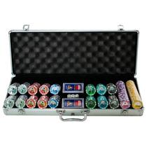 Poker Maleta 500 Fichas Holográficas Numeradas