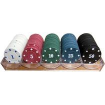 Kit De 100 Fichas De Poker Numeradas