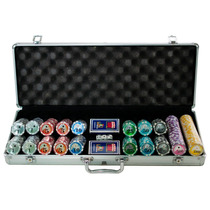 Maleta De Poker 500 Fichas Holográficas Numeradas