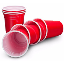 American Red Party Cups - Booze Cup - Pack Com 120 Unidades