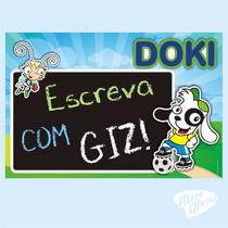 Quadro Negro Lousa Decorativo Doki Discovery Kids