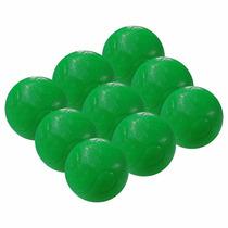 Bola Maciça Para Pebolim Verde Totó 9 Peças (10903)