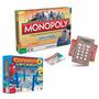 Jogo Monopoly Cartão Eletrônico + Jogo Connect 4 Lançadores