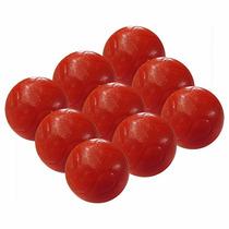 Bola Maciça Para Pebolim Vermelha Totó 9 Peças (10268)