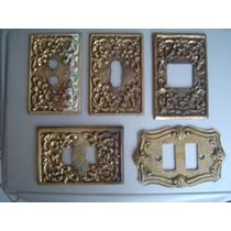 5 Espelhos De Interruptor De Luz - Bronze
