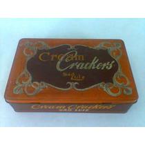 Antiga Lata Cream Crackers São Luiz ( Tampa Basculante)