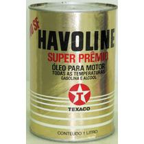 Lata De Óleo Antiga Havoline Super Prêmio 1l.