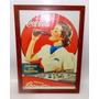 Posters Emoldurados Com Vidro Publicidades Antigas Coca Cola